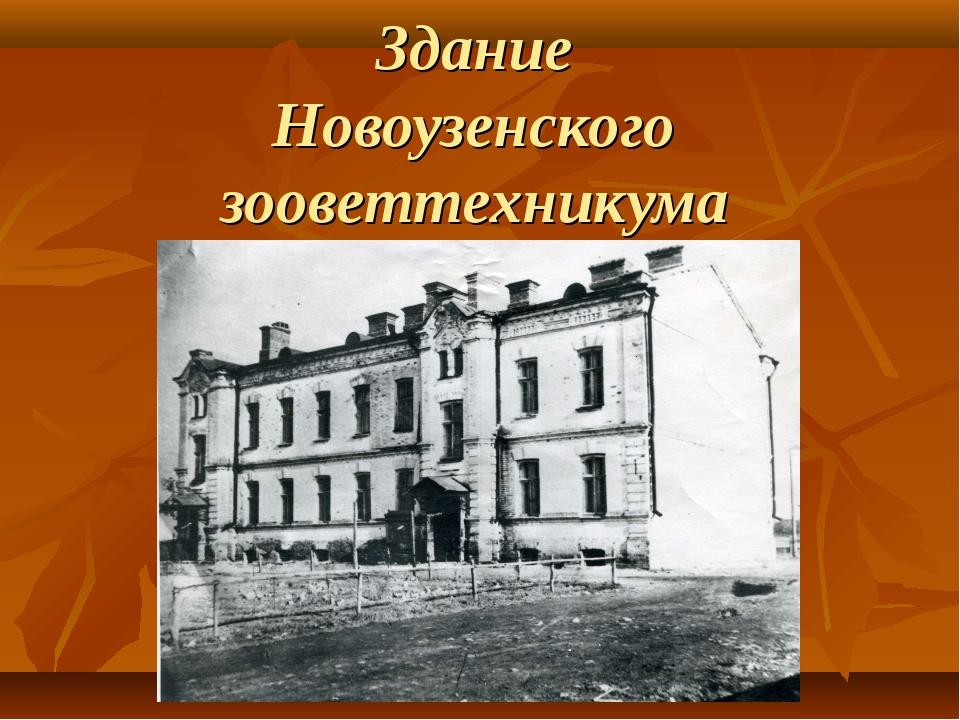 Здание Новоузенского зооветтехникума