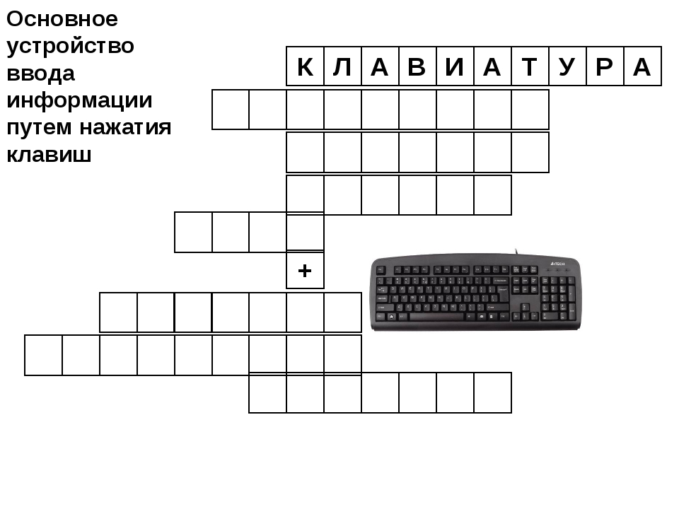 Л А В И А Т У Р А К + Основное устройство ввода информации путем нажатия клавиш