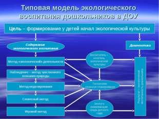 Типовая модель экологического воспитания дошкольников в ДОУ