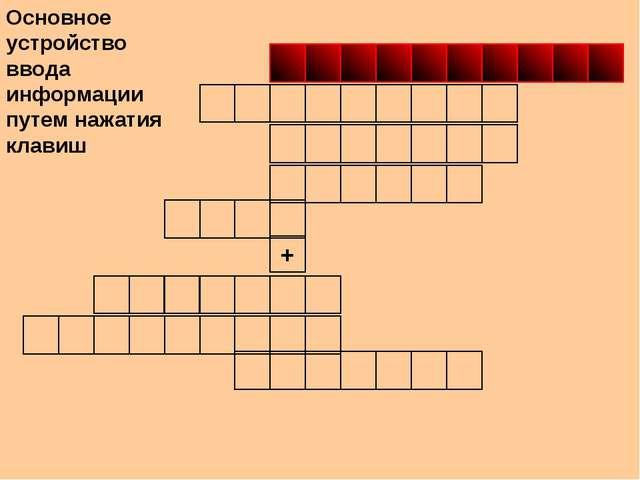 + Основное устройство ввода информации путем нажатия клавиш