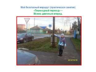 Мой безопасный маршрут (практическое занятие) «Пешеходный переход» – Можно дв