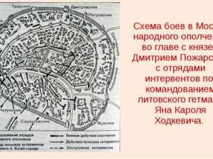 Схема боев в Москве народного ополчения во главе с князем Дмитрием Пожарским