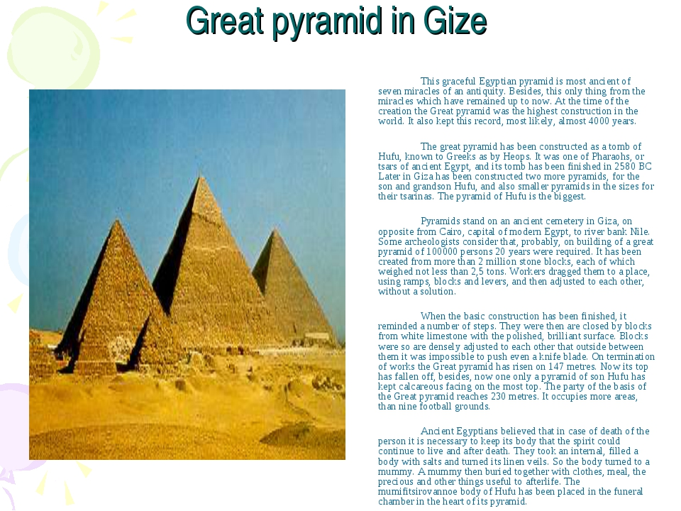 how the egyptian pyramids were built and the purposes they served Pyramids were built for the egyptian pharohs so they could successfully enter life in the 'afterlife' they believed that a pharaoh (they were considered living gods) needed t he pyramid as a key to gain entry into the afterlife.