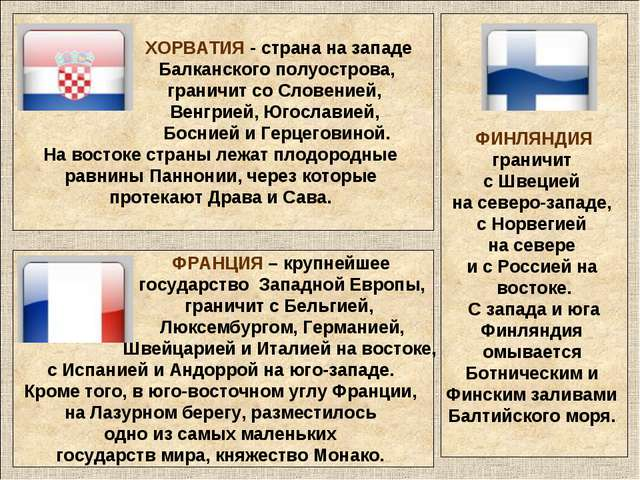 ХОРВАТИЯ - страна на западе Балканского полуострова, граничит со Словенией,...