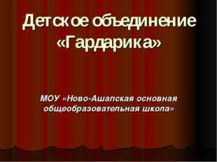 Детское объединение «Гардарика» МОУ «Ново-Ашапская основная общеобразовательн