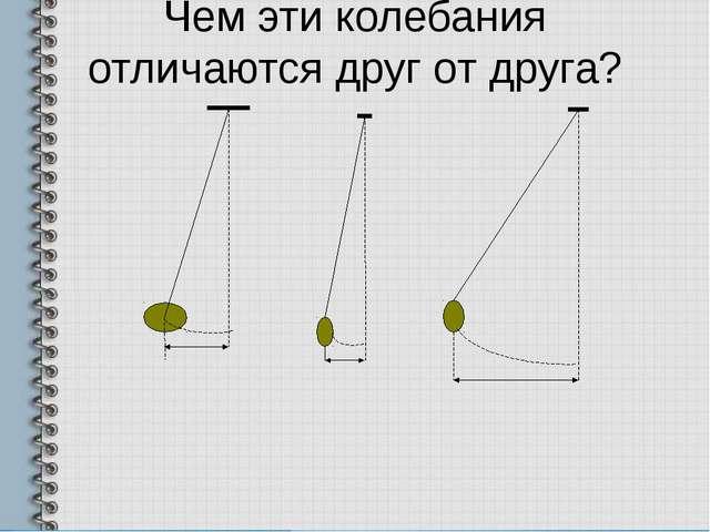 Чем эти колебания отличаются друг от друга?