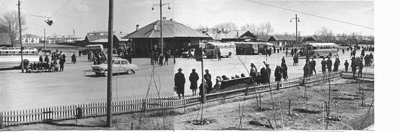 Старый автовокзал, 1963 год. Фото Сарычев