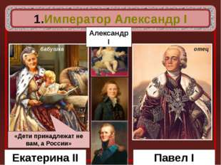 Екатерина II Павел I бабушка отец Император Александр I Александр I «Дети пр