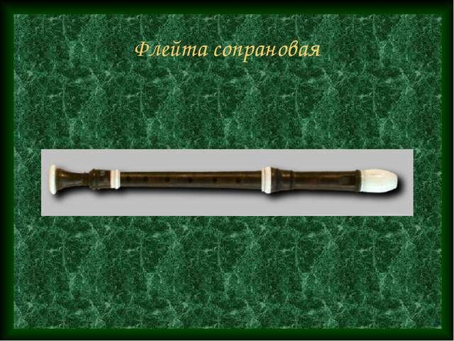 Флейта сопрановая