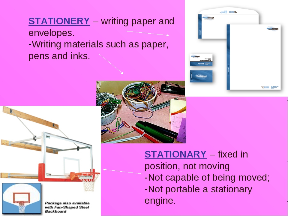 STATIONERY – writing paper and envelopes. Writing materials such as paper, pe...
