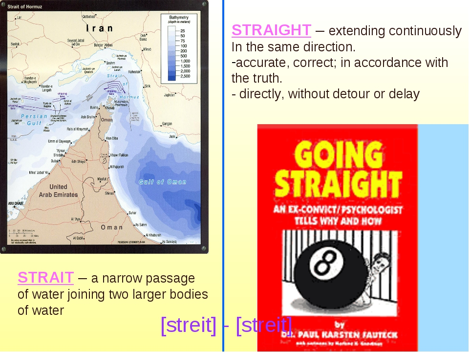 STRAIGHT – extending continuously In the same direction. accurate, correct; i...