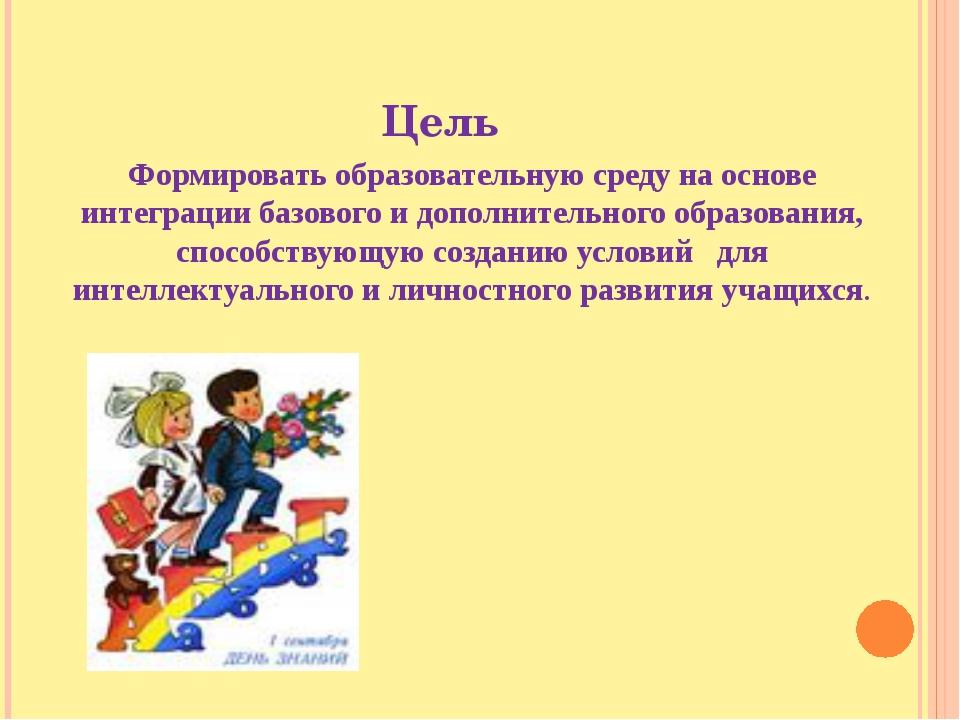 Цель Формировать образовательную среду на основе интеграции базового и дополн...