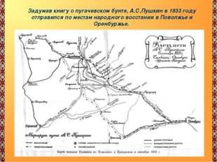 « Задумав книгу о пугачевском бунте, А.С.Пушкин в 1833 году отправился по мес