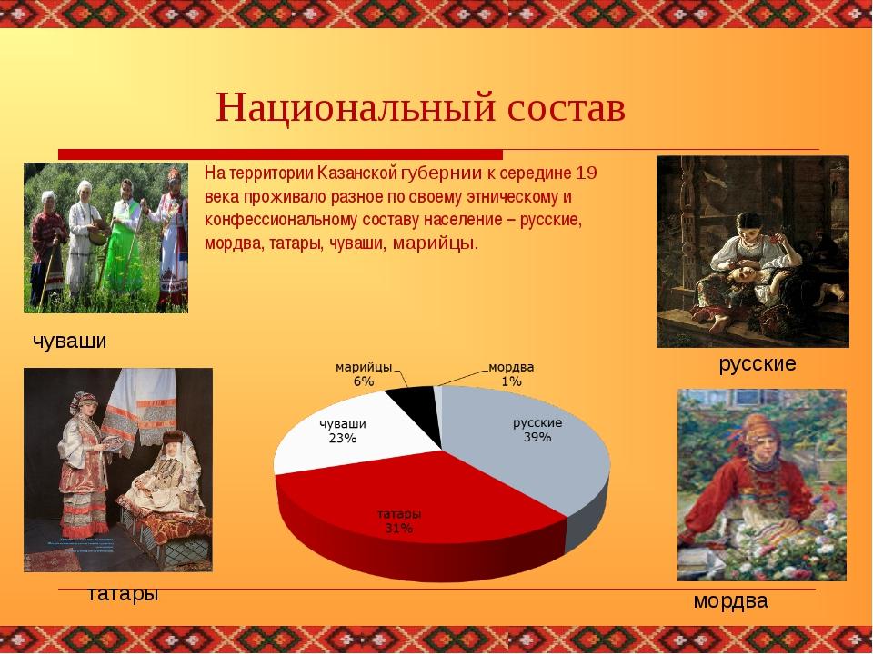 На территории Казанской губернии к середине 19 века проживало разное по своем...