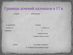 р.Хопер с р.Медведица по крымской г.Самара стороне до от Урала до г.Царицын