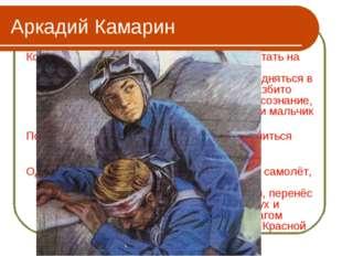 Аркадий Камарин Когда началась война, Аркадий пошёл работать на авиационный з