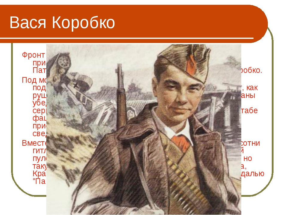Вася Коробко Фронт подошел вплотную к селу Погорельцы. На окраине, прикрывая...