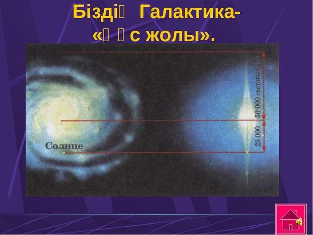 Біздің Галактика- «Құс жолы».