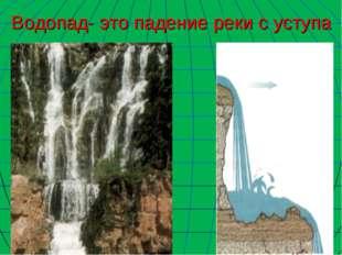 Водопад- это падение реки с уступа