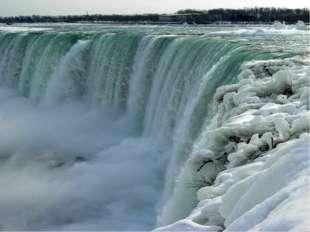 Ниагарский водопад (высота 51м, ширина > 1000м) Ночная подсветка