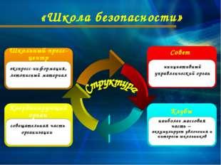 «Школа безопасности» Координирующий орган совещательная часть организации Шко