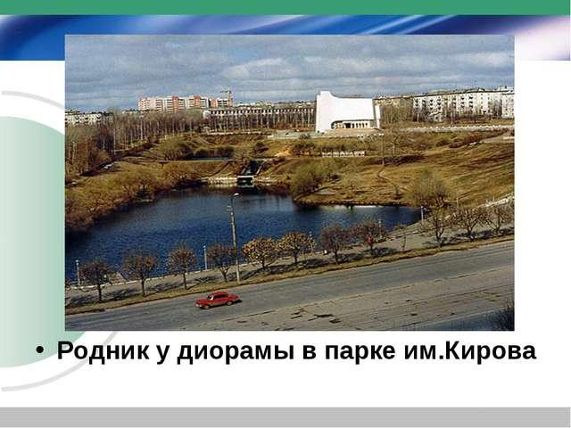 Родник у диорамы в парке им.Кирова