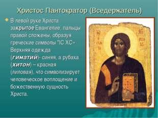 Христос Пантократор (Вседержатель) В левой руке Христа закрытоеЕвангелие, па