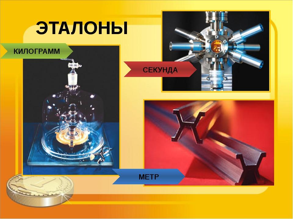 ЭТАЛОНЫ СЕКУНДА МЕТР КИЛОГРАММ