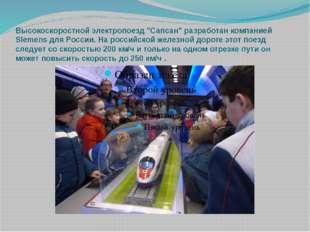 """Высокоскоростной электропоезд """"Сапсан"""" разработан компанией Siemens для Росси"""
