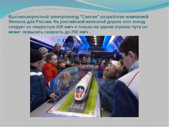 """Высокоскоростной электропоезд """"Сапсан"""" разработан компанией Siemens для Росси..."""