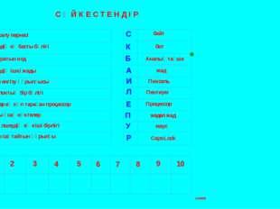 С Ә Й К Е С Т Е Н Д І Р 1 Бас әріпті салу пернесі 2 Компьютердің ең басты бөл