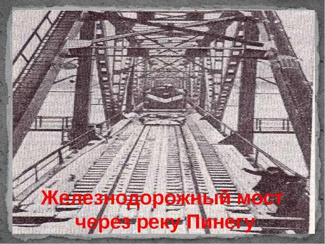 Железнодорожный мост через реку Пинегу