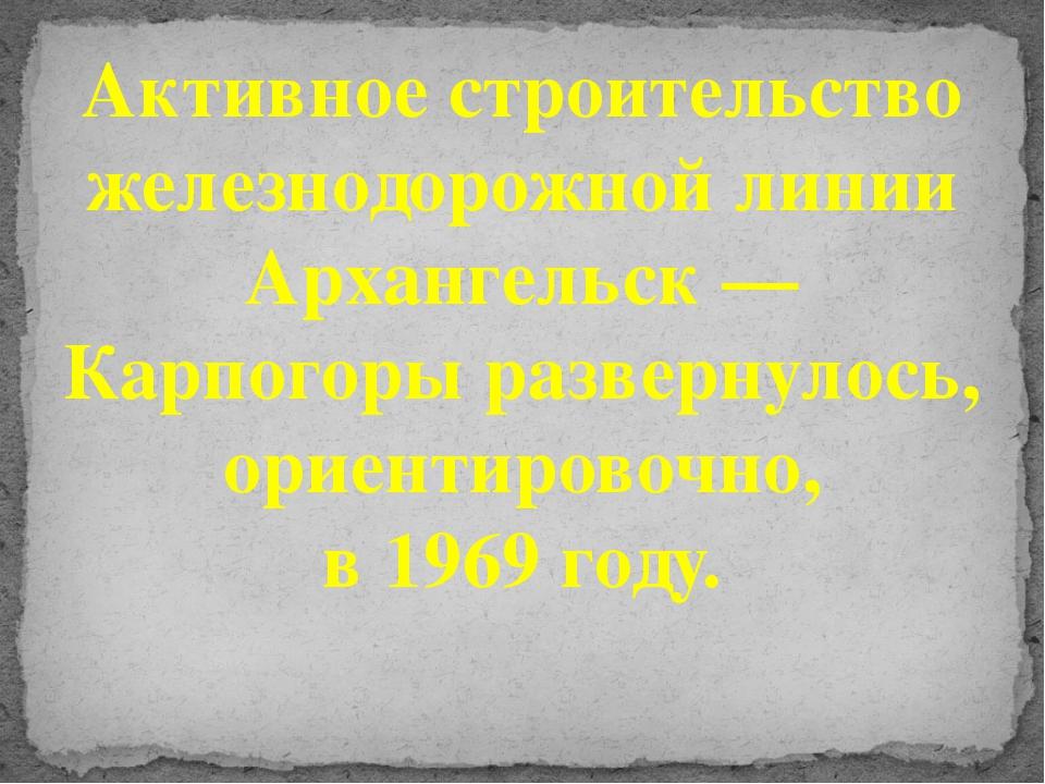 Активное строительство железнодорожной линии Архангельск — Карпогоры разверну...