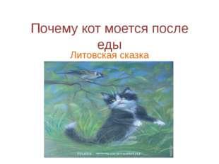 Почему кот моется после еды Литовская сказка