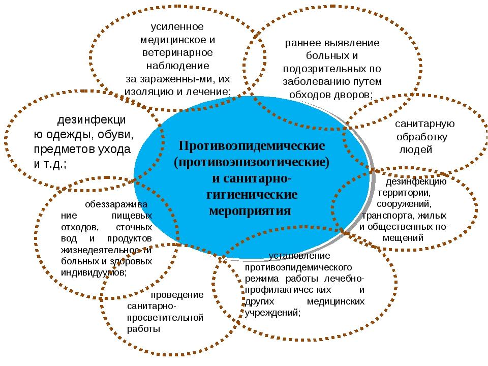 Противоэпидемические (противоэпизоотические) и санитарно-гигиенические меропр...