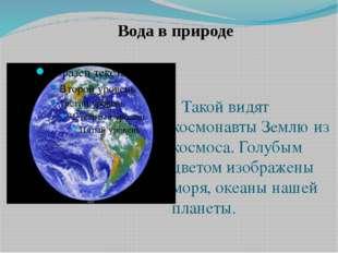 Такой видят космонавты Землю из космоса. Голубым цветом изображены моря, оке
