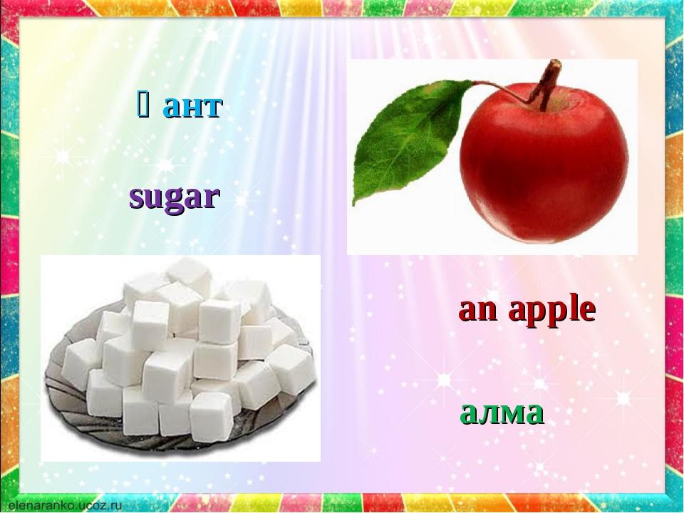 sugar an apple қант алма
