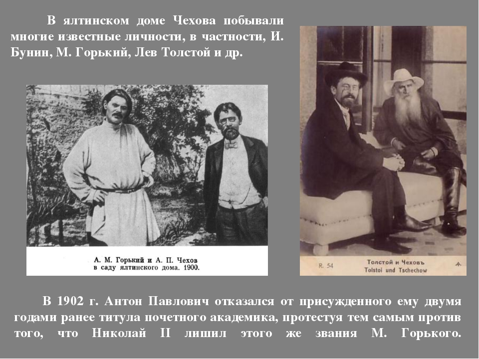 В 1902 г. Антон Павлович отказался от присужденного ему двумя годами ранее т...