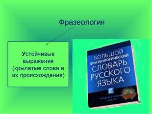 Фразеология Устойчивые выражения (крылатые слова и их происхождение)
