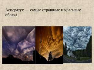 Асператус — самые страшные и красивые облака.