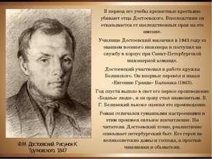 В период его учебы крепостные крестьяне убивают отца Достоевского. Впоследств