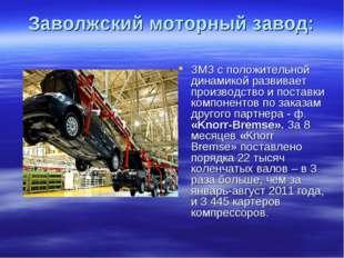 Заволжский моторный завод: ЗМЗ с положительной динамикой развивает производст