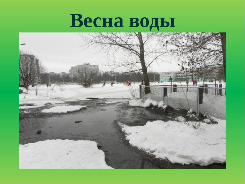 Весна воды
