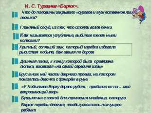 И. С. Тургенев «Бирюк». Что до половины закрывало «суровое и мужественное лиц