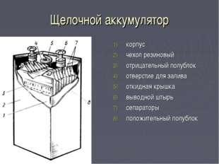 Щелочной аккумулятор корпус чехол резиновый отрицательный полублок отверстие