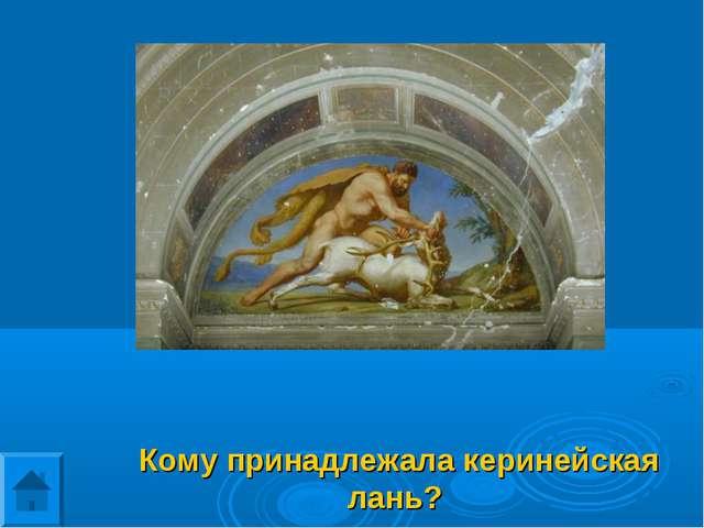 Кому принадлежала керинейская лань?