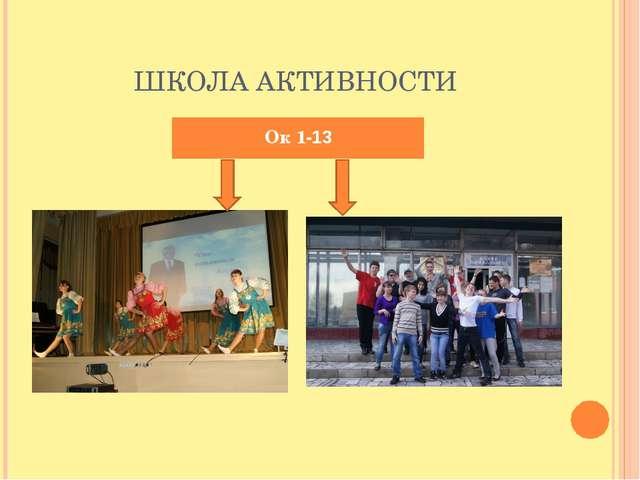 ШКОЛА АКТИВНОСТИ Ок 1-13