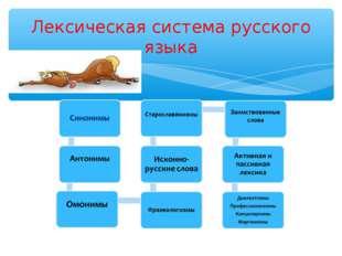 Лексическая система русского языка