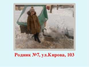 Родник №7, ул.Кирова, 103
