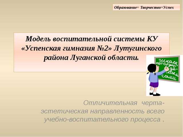 Модель воспитательной системы КУ «Успенская гимназия №2» Лутугинского района...